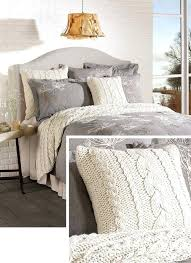 cozy cable knit throw pillow from bedding comforter chunky comforter bedroom perfect style of cable knit for queen bed size knitted large chunky