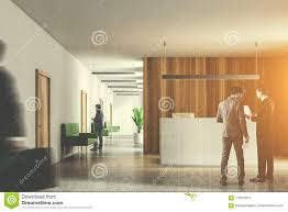office reception counter. Download Businespeople In Wooden Office, Reception Counter Stock Illustration - Of Multiexposure, Hall Office