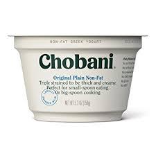chobani plain non fat greek yogurt 5 3oz