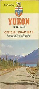 Details About 1969 Official Road Map Yukon Territory Canada Alaska Highway Klondike Whitehorse