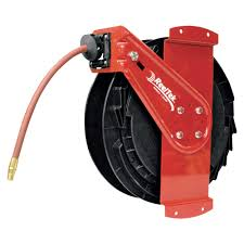 reelcraft air water side mount retractable hose reel with 3 8in x