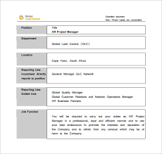 project manager job description templates – free sample    hr project manager job description sample pdf free download