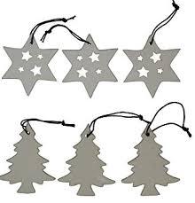 Khevga Christbaumschmuck Weiß Aus Porzellan Weihnachtsbaumschmuck Sterne Tanne
