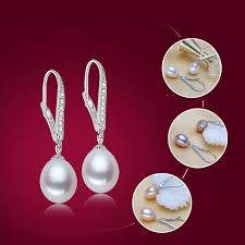 Fashion Natural Fit <b>Freshwater Pearl</b> Earring 925 Sterling Silver ...
