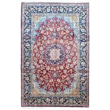 blue oriental rug handmade semi antique red navy and pink area rugs