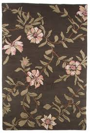 contemporary hand tufted wool area rug carpet 5x8 green brown antique fl