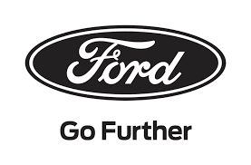 black ford racing logo. ford racing we go further black logo