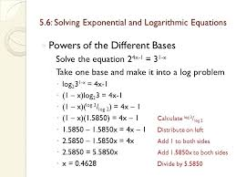 solving logarithmic equations with diffe bases math solving exponential and logarithmic equations mathway