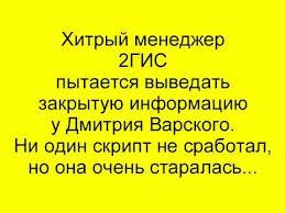 Курсовая работа Реклама ГИС  Хитрый менеджер 2ГИС пытается выведать закрытую информацию у Дмитрия Варского
