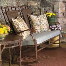 chatham rocking bench with cushions