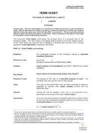 Nda Template For Startup Startup Investorgreement Templatengel Term Sheet In Investor