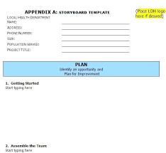 Project Storyboard Template Sample Video Lccorp Co
