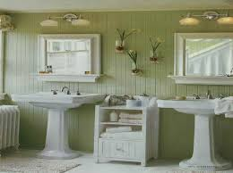 bathroom paint ideas green. Amazing Vintage Bathroom Decors Added Two Pedestal Sink Wall Mirror Frames Hang On Green Painting Ideas And Cabinetry Towel Storage Tips Paint