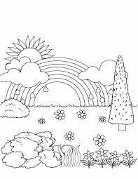 Kleurplaat Regenboog Kleurplaat Regenboogzonwolken C0bk39tsg8