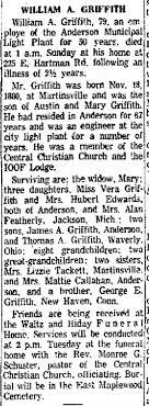 William Arthur Griffith obituary - Newspapers.com