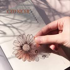 Flower Paper Clips Hand Heart Original Design Flower Clip Bookmarks Brass