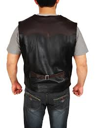 black and brown cowboy leather vest mauvetree men cowboy leather vest