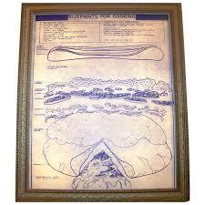 vintage 1976 framed blueprints for