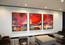 artwork for the office. Large Framed Abstract Paintings For A New Contemporary Office. Artwork The Office