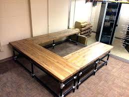 diy u shaped desk. Beautiful Desk Butcher Block Office Desk U Shaped Photo Sharing Diy For Diy U Shaped Desk O