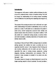 written assignment that critically examines the effectiveness of case study this assignment will present a holistic profile and discuss the plan of