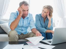 Image result for couple financial worry pics