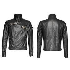 china y 701 steampunk men black vintage motorcycle leather short jacket china jacket men jacket