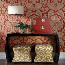 Ethan Allen Wallpaper Designs Corbin Ottoman Decor Hallway Decorating Home Decor