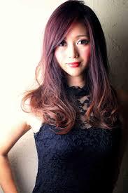 2013秋髪ディープボルドーグラデーションカラーの髪型 Stylistd