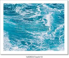 Ocean Wave Background Free Art Print Of Ocean Waves Background Image Of Turbulent Waves
