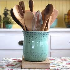 Kitchen Utensil Holder | Turquoise Kitchen Utensils | Marble Utensil Holder
