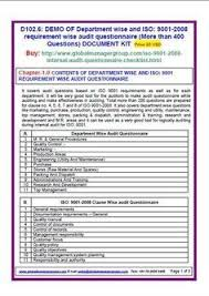 Document Audit Checklist Internal Quality Management System Audit Checklist Iso 9001 2015 For
