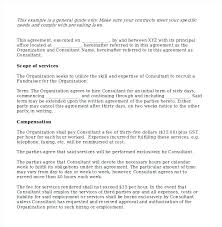 Sales Representative Contract Template Sample Consulting Contract