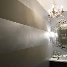 metallic paint walls decor striped walls