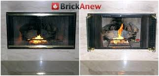 replace fireplace glass unique replace