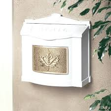wall mount residential mailboxes. Wall Mount Residential Mailboxes White Mailbox With Polished Brass Leaf Emblem . M