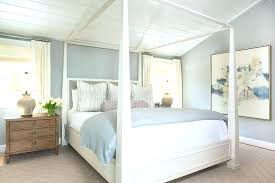 Ikea Poster Bed White Poster Bed White Canopy Bed With Gray Bedding ...