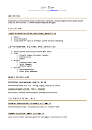 Aae Fba Eed Dae Db Resume Template For High School Student Printable