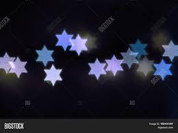Christmas Lights Star Of David Star David Lights Image Photo Free Trial Bigstock
