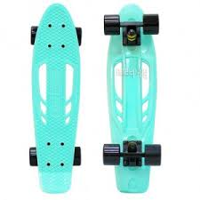 <b>Скейт Y</b>-Scoo Skateboard Fishbone 22 Aqua-Black 405-A