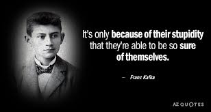 Kafka Quotes Inspiration Franz Kafka Quote It's Only Because Of Their Stupidity That They're
