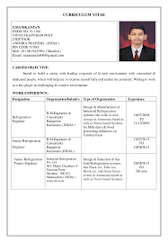 Refrigeration Engineer. C.v. 28-11-15