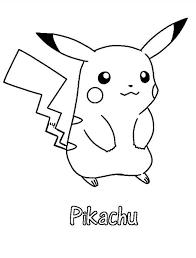 Pikachu Coloring Pika Thoe Tekenen Kleurplaten Pinterest Curties Color