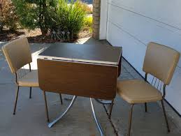 Retro Formica Kitchen Table 60s Dinette Set Drop Leaf Table 2 Chairs Virtue Bros Vintage