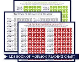 Book Of Mormon Reading Chart 90 Days Book Of Mormon Reading Chart 90 Days Printable Etsy