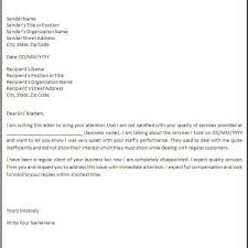 Letters Of Complaint Free Printable Sample Customer Complaint Response Letter
