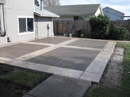 plain concrete patio. Stamped Concrete Patio Plain