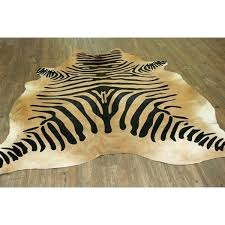zebra on caramel real natural cowhide rug area rugs free today animal skin