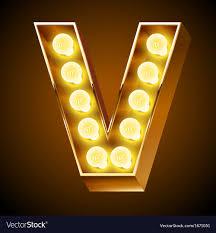 Letter Light Board Realistic Old Lamp Alphabet For Light Board