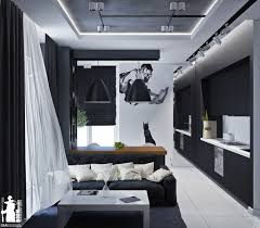 Designs by Style: Artistic Wall Decal Ideas - Monochromatic Interiors